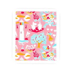 北欧スポンジワイプムーミンシリーズ レトロ ピンク または ミントグリーン(布巾ふきん) moomin