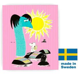 【メール便で送料無料】北欧スポンジワイプ ムーミンシリーズ Keep Sweden Tidy ピンク(布巾ふきん)【楽ギフ_包装】【楽ギフ_のし】引越し祝い 開店祝い結婚祝い10P03Dec16