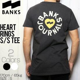 [クリックポスト対応] BANKS バンクス HEART RINGS S/S TEE 半袖Tシャツ WTS0335