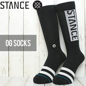 [クリックポスト対応] STANCE スタンス OG SOCKS ソックス 靴下 M556D17OGG BLK