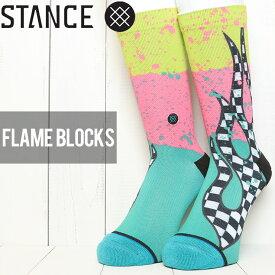 [クリックポスト対応] STANCE スタンス FLAME BLOCKS SOCKS ソックス 靴下 M558C19FLB