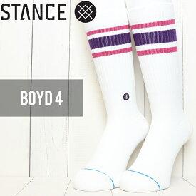 [クリックポスト対応] STANCE スタンス BOYD 4 SOCKS ソックス 靴下 M556A18BOY PUR