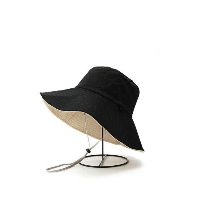 (送料無料)リバーシブル おしゃれ UVハット つば広 ひも付き 帽子