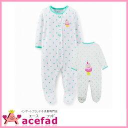 卡特Carters嬰兒裝覆蓋物全部步態長袖子女人的孩子點&冰3m 6m 9m 12m