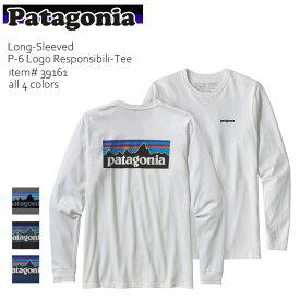 パタゴニア/patagonia メンズ・ロングスリーブ・P-6ロゴ・レスポンシビリティー Men's L/S P-6 Logo Responsibili 39161 ロゴロンT 長袖 WHITE BLACK ホワイト ブラック アウトドア 登山 レギュラーフィット【あす楽】【1点までネコポス可】