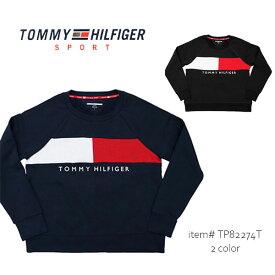 トミーヒルフィガー/TOMMY HILFIGER TP82274T 裏起毛 トレーナー スウェット 長袖 レディース ロゴ トップス ベーシック 人気 US規格【あす楽】