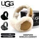 UGG/アグ 正規品 W SHEEPSKIN BLUETOOTH EARMUFF(17651)/シープスキン ブルートゥース イヤマフ イヤ-マフ もこもこ …