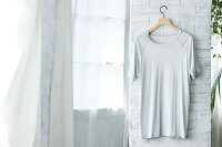 極上シルク100%メーカー直販シルクラグランシャツ半袖シャツメンズ男性用フリーサイズ42ゲージ