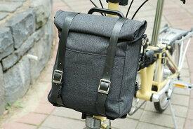ブロンプトン 2WAY ミニロールトップバッグ(フロントバッグ)BROMPTON MINI ROLLTOP BAG(FRONT BAG)リュック・ショルダーバッグとして使用可能な自転車バックPUコーティングキャンバス使用*専用ミドルタイプフレーム・専用防水カバー付き