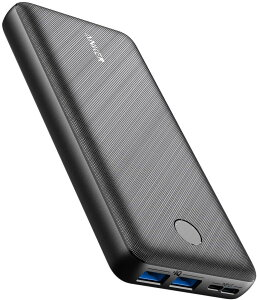 Anker PowerCore Essential 20000 (モバイルバッテリー 超大容量 20000mAh) 【USB-C入力ポート/PSE認証済/PowerIQ/低電流モード搭載】iPhone & Android 各種対応