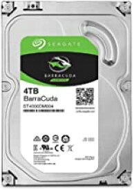 """Seagate BarraCuda 3.5"""" 4TB 内蔵ハードディスク HDD 6Gb/s 256MB 5400rpm 正規代理店品 ST4000DM004"""