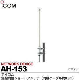 【ICOM】無指向性ショートアンテナ同軸ケーブル約0.3mAH-153