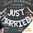 1000円ポッキリ JUST MARRIED バルーン ガーランド   前撮り アイテム 結婚式 結婚 式 飾り付け ウェルカムスペース …