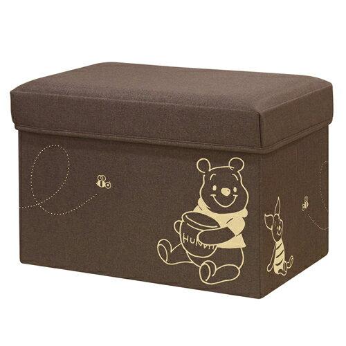 ディズニー 座れる収納ボックス スツール 収納 座れる BOX 収納ボックス フタ付 布製 子供部屋 おもちゃ収納 50W Disney WINNIE THE POOH [くまのプーさん/ブラウン]BS5030-PO ドウシシャ DOSHISHA