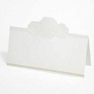 【高級シリーズ ITALY】ホワイトローズ 席札(10名様分)【手作り 結婚式 二次会 1.5次会】