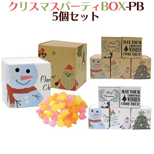 【クリスマス】クリスマス パーティBOX-PB 5個セット(金平糖)【こんぺいとう・プチギフト】