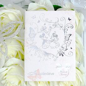 """ディズニー招待状セット """"ブリリアントピンク"""" ミッキーマウス ペーパーアイテム【手作り】"""