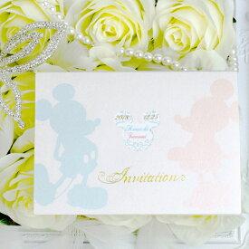 """ディズニー招待状セット """"シルエット"""" ミッキーマウス ペーパーアイテム【手作り】"""