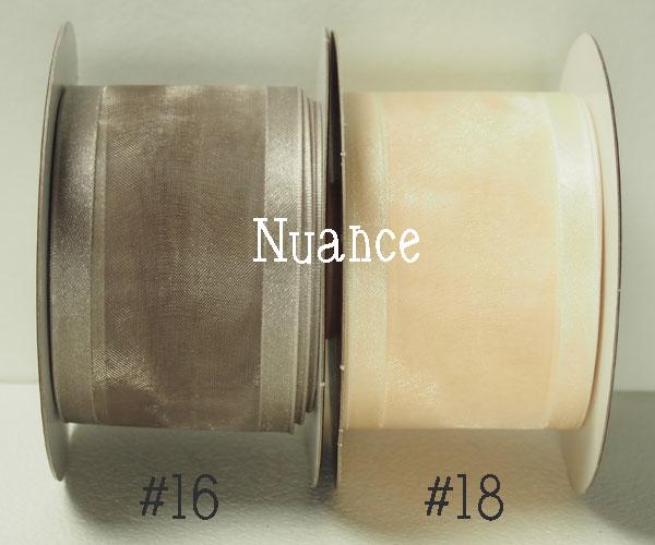 【ルナリボン】3202 ニュアンス 50mm x 9m巻 オーガンジーリボン 全2色