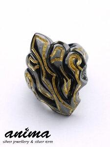 anima exists in all creation[ヴァルキリーリング](シルバーアクセサリー/シルバー925/Silver925/アニマ/リング/指輪/メンズ/純金/ブラック/ゴールド/金箔/24金/ブラックロジウム/K24/)