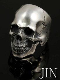 JIN [リアルスカルリング2](/シルバーアクセサリー/シルバー925/Silver925/ジン/サスケ/SASUKE/リング/指輪/メンズ/ユニセックス/スカル/骸骨/ドクロ/)