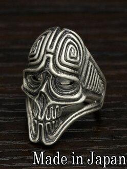 雙流 [ar-04 古老 (古)] (銀飾品/銀斧頭 / 銀 / 銀 925 / Silver925 / 銀 / 雙流或圓環 / 環 / 男子 / 婦女 / 中性 /Dualflow / 骷髏戒指和頭骨)