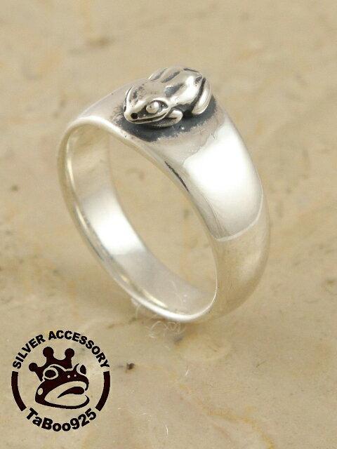 TaBoo925[豆蛙リング] (シルバーアクセサリー/silver925/リング/トカゲ/シルバーアクセ/銀/メンズ/レディース/ユニセックス/ヤモリ/爬虫類/指輪)