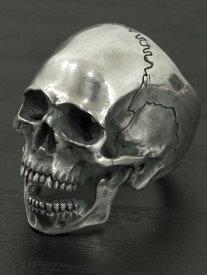 JIN[顎有り頭蓋骨リング](シルバーアクセサリー/シルバー925/Silver925/ジン/SASUKE/サスケ/ピアス/メンズ/ユニセックス/スカル)