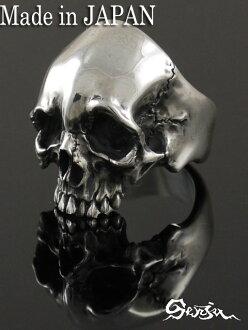 千住 [Rg 2 冥想] (/ 銀配件 / 銀斧頭 / 銀 / 銀 925 / Silver925 / 銀 / 千住 / senjyukannonbosatsu 的雕像 / 戒指 / 指環 / 男士 / 中性 / 頭骨 / 骨架 / 頭骨 / 水合物 / senj / 骷髏戒指)