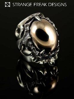 奇怪的怪物設計 (銀飾品/銀斧頭 / 銀 / 銀 925 / Silver925 / 銀 / 奇怪怪物設計/斯塔爾/環 / 環 / 男子 / 婦女的中性/粉紅色銀/瑪麗蓮 · 曼森)