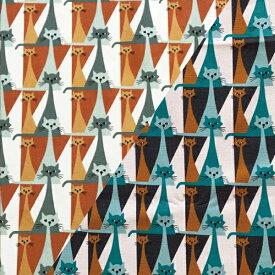 ★5枚までメール便【ネコポス】対応★おためしハーフ&ハーフカットクロス ARVIDSSONS TEXTILアルビッドソンズ・テキスタイル Kitty mini キティミニ 約75×50cm / 北欧 生地 スウェーデン ブランド 布 おしゃれ かわいい モダン 手芸