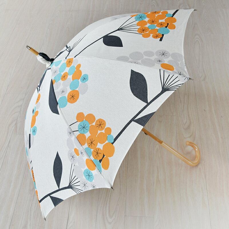 【送料無料】晴雨兼用傘 A.G. PEHRSON エージーパーソン HELENA ヘレナ オレンジ 日傘 uvカット 北欧 北欧生地 フィンランドブランド おしゃれ かわいい