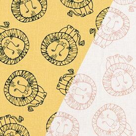 ★5枚までメール便【ネコポス】対応★生地ハーフカットクロス Lisa Larson リサラーソン LION ライオン 麻混生地 75×50cm 布・クロス / 北欧 生地 リサラーソン ブランド 布 おしゃれ かわいい 手芸