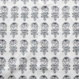 ★5枚までメール便【ネコポス】対応★【日本限定カラー】生地ハーフカットクロス marimekko マリメッコ VIHKIRUUSU ヴィヒキルース(ヴィキルース)ホワイト×ブラック 73×50cm