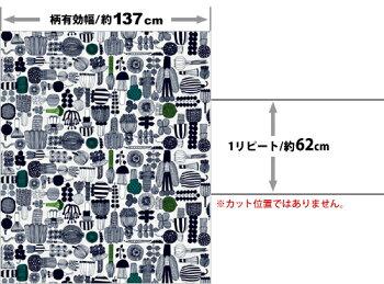 【ルネ・デュー】生地marimekkoマリメッコPUUTARHURINPARHAATプータルフリンパルハート10cm布・クロス