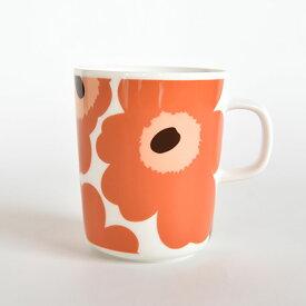 marimekko マリメッコ マグカップ 250ml UNIKKO ウニッコ ホワイト×アプリコット×ダークブラウン ※1個単位での販売 / 北欧雑貨 北欧 雑貨 フィンランドブランド おしゃれ かわいい プレゼント