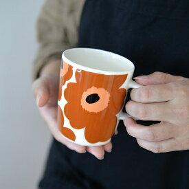 marimekko マリメッコ マグカップ 250ml UNIKKO ウニッコ ホワイト×ブラウン ※1個単位での販売 / 北欧雑貨 北欧 雑貨 フィンランドブランド おしゃれ かわいい プレゼント
