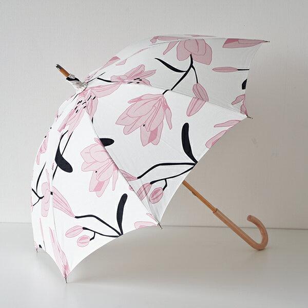 【送料無料】日傘 ARVIDSSONS TEXTIL アルビッドソンズ・テキスタイル Lilly リリィ ピンク 晴雨兼用傘 北欧 北欧生地 北欧雑貨 スウェーデンブランド おしゃれ かわいい uvカット