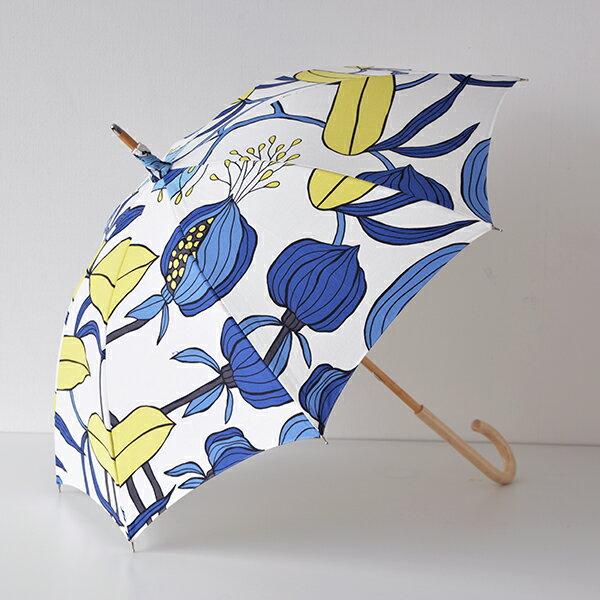 【送料無料】日傘 ARVIDSSONS TEXTIL アルビッドソンズ・テキスタイル Sulawesi スラウェシ ブルーイエロー 晴雨兼用傘 北欧 北欧生地 北欧雑貨 スウェーデンブランド おしゃれ かわいい uvカット