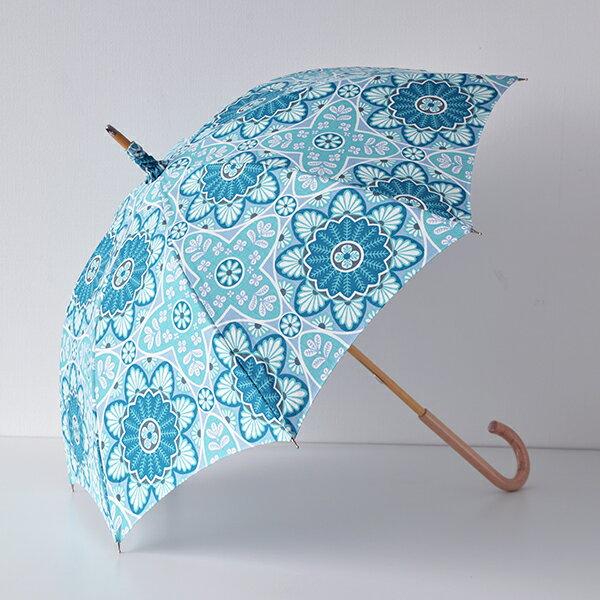 【送料無料】日傘 SVANEFORS スヴァンフォース MARRAKESH マラケシュ ブルー 晴雨兼用傘 北欧 北欧生地 北欧雑貨 スウェーデンブランド おしゃれ かわいい uvカット