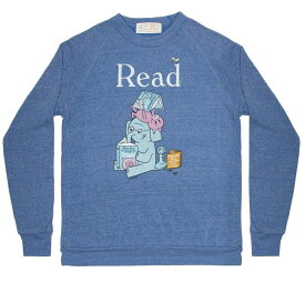 [Out of Print] Mo Willems / Read with Elephant & Piggie, and The Pigeon Sweatshirt (Pacific Blue)