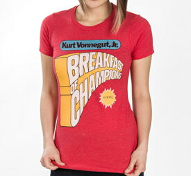 [Out of Print] Kurt Vonnegut / Breakfast of Champions Tee (Red) (Womens)