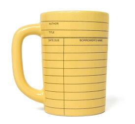 【Out of Print】 Library Card Mug (Yellow)