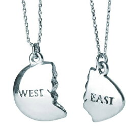[Out of Print] East and West Egg Necklace (The Great Gatsby) (Silver)