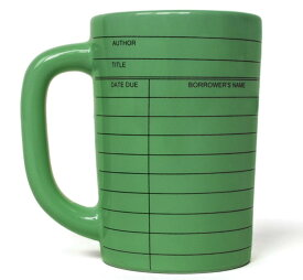 【Out of Print】 Library Card Mug (Green)