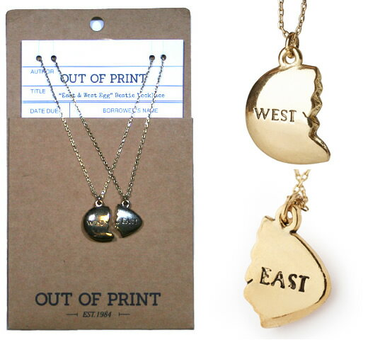 【Out of Print】 East and West Egg Necklace (The Great Gatsby)