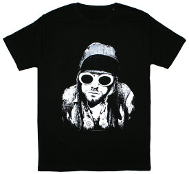 Kurt Cobain / Sunglasses Photo Tee 2 (Black)
