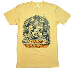The Velvet Underground / Collage Illustration of NYC Tee (Yellow)