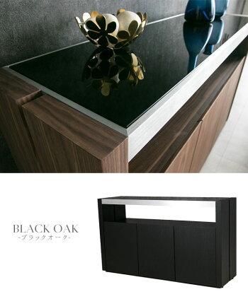 【送料無料】キャビネットチェストサイドテーブル開き戸ホワイト木製ウォールナットサイドチェストサイドボード収納白高級感モダンブラックウォルナット130サイドキャビネットブラウンガラスガラス製おしゃれ黒