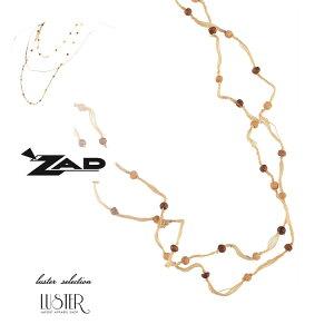 【SS20】【メール便不可】【ラッピング可】〈ZADjewelry〉タイニーウッドビーズスレッドネックレス/インポートアクセサリー 海外インポート LA 西海岸 20代 30代 40代 プチプラ クーポン対応 ギ